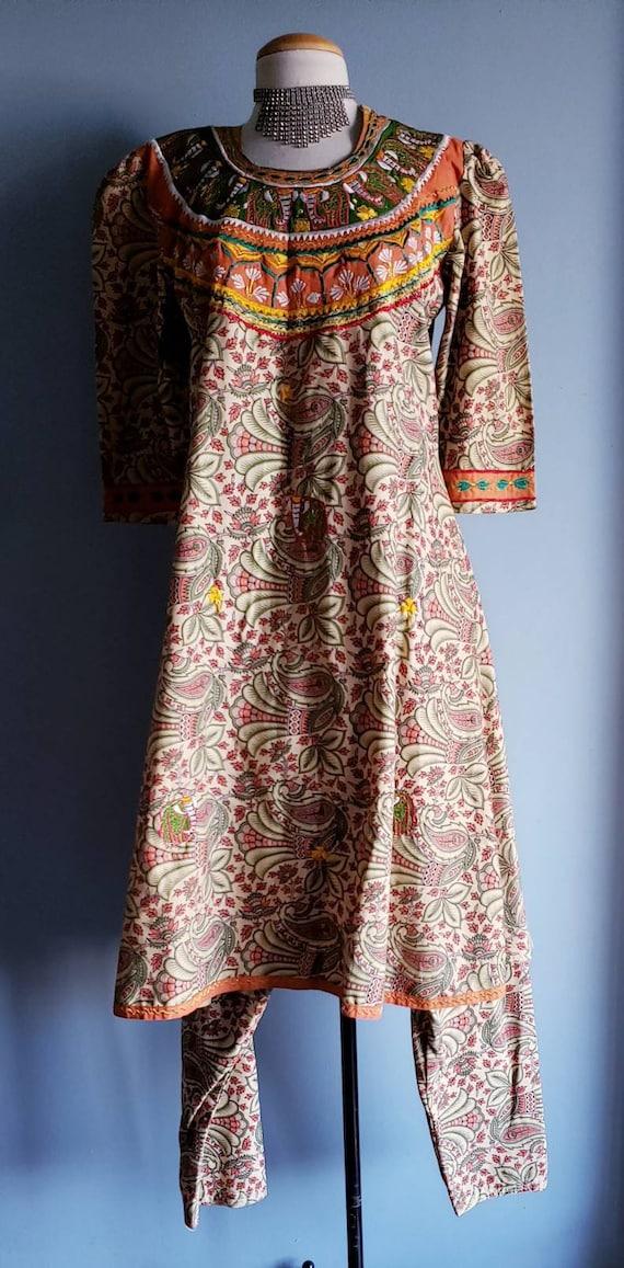 Vintage 1970s Punjabi suit/Salwar pants. Cotton p… - image 8