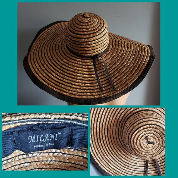 Extra wide brim Italian straw hat. - image 10