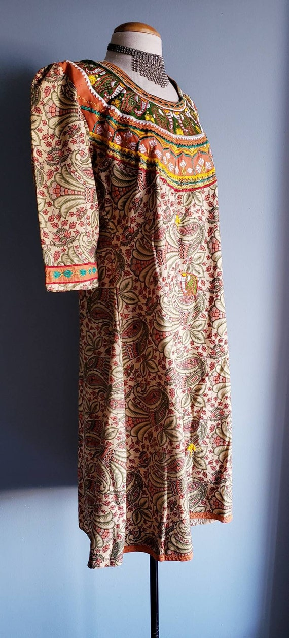 Vintage 1970s Punjabi suit/Salwar pants. Cotton p… - image 3
