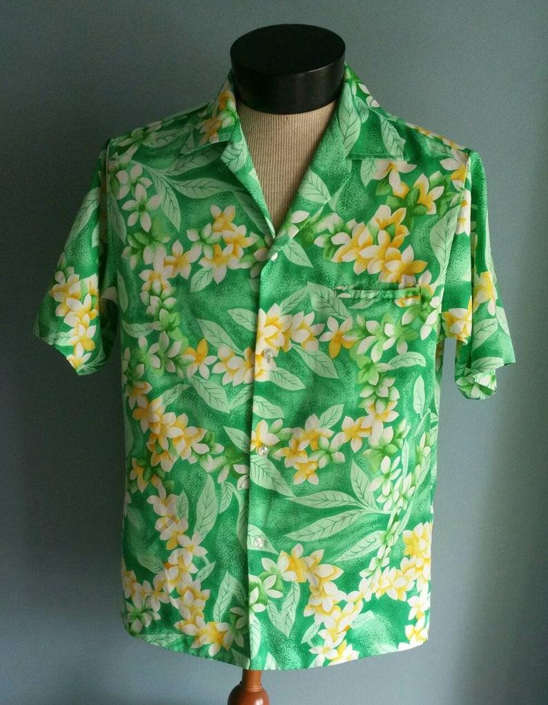 3678d0f2a Mens mint green Hawaiian shirt by Pomare Hawaii. | Etsy
