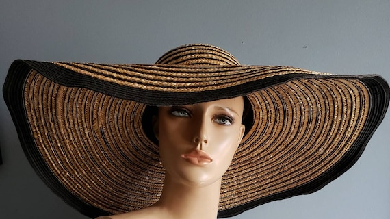 Extra wide brim Italian straw hat. - image 7