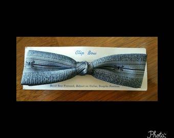 Mens dead stock vintage clip on bow tie