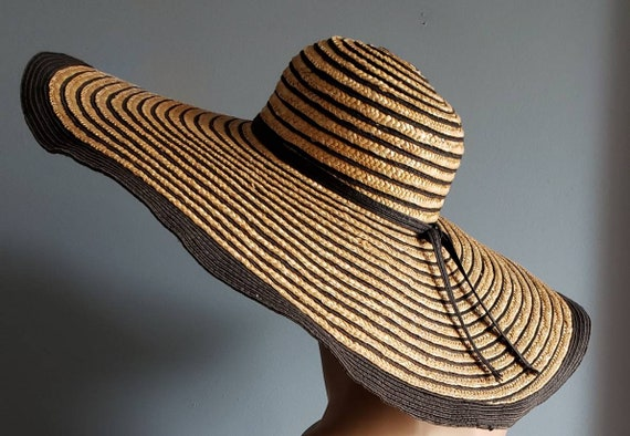 Extra wide brim Italian straw hat. - image 8