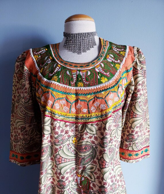 Vintage 1970s Punjabi suit/Salwar pants. Cotton p… - image 2