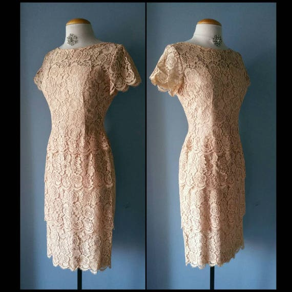 Vintage lace Lilli Diamond cocktail dress