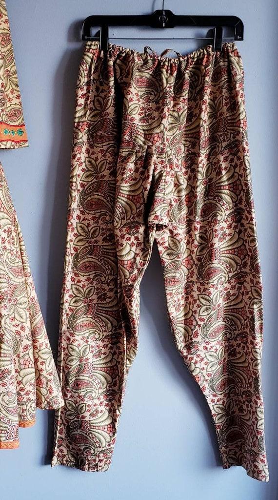Vintage 1970s Punjabi suit/Salwar pants. Cotton p… - image 6