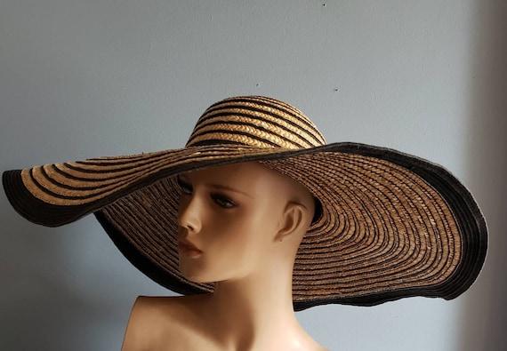 Extra wide brim Italian straw hat. - image 6