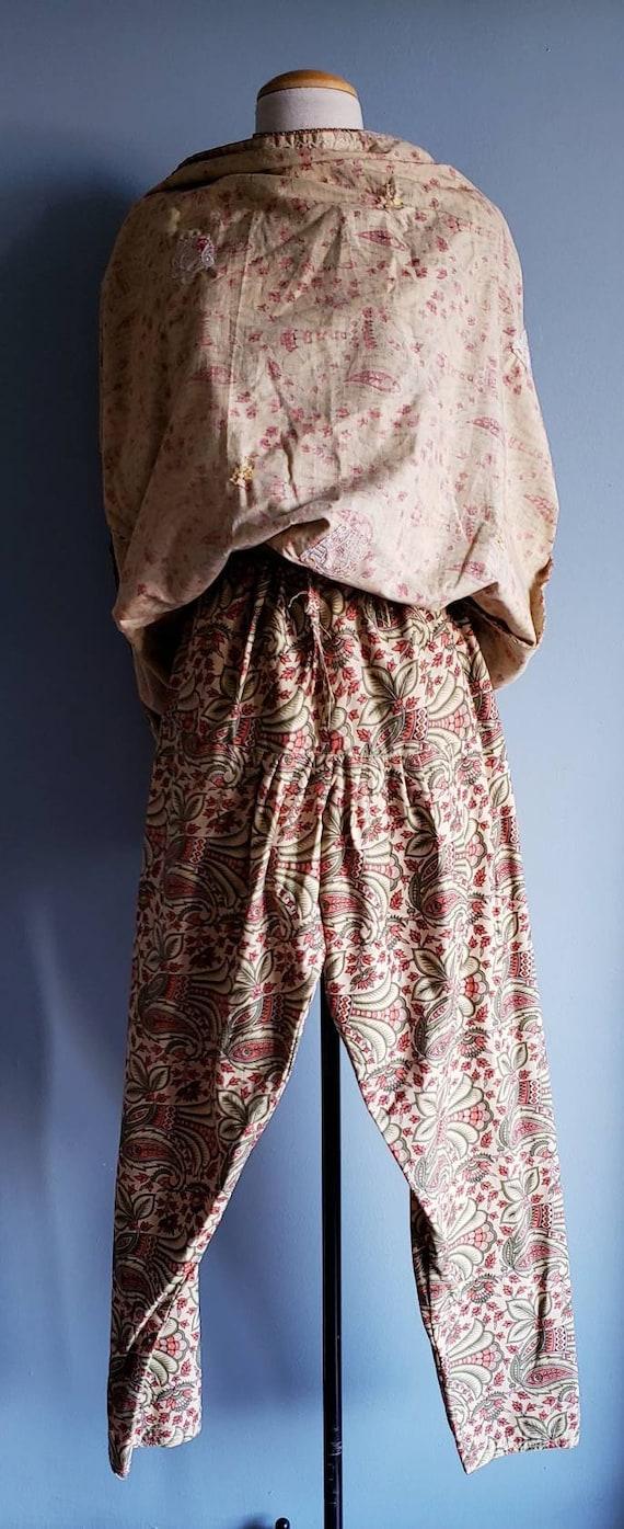 Vintage 1970s Punjabi suit/Salwar pants. Cotton p… - image 9
