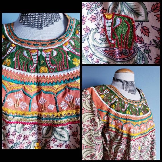 Vintage 1970s Punjabi suit/Salwar pants. Cotton p… - image 10