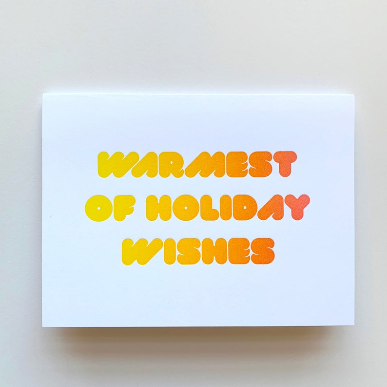 Warmest of Holiday Wishes Holiday Letterpress Card image 0