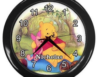 Personalized Forever Friends Bears Hugging Kid's Bedroom Wall Clock