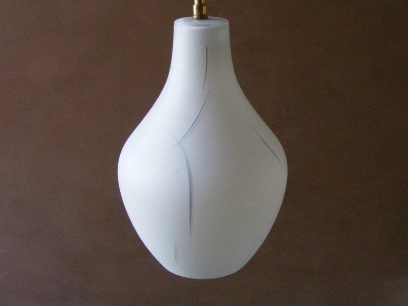 Plafoniere Vetro Vintage : Vintage francese bianco vetro plafoniera lampada ombra con etsy