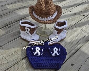 Neugeborenes Baby Häkeln Cowboyhut Stiefel Foto Prop Outfit Etsy