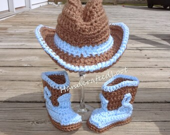 Neugeborenen Cowboy Hut Neugeborene Cowboy Stiefel Etsy