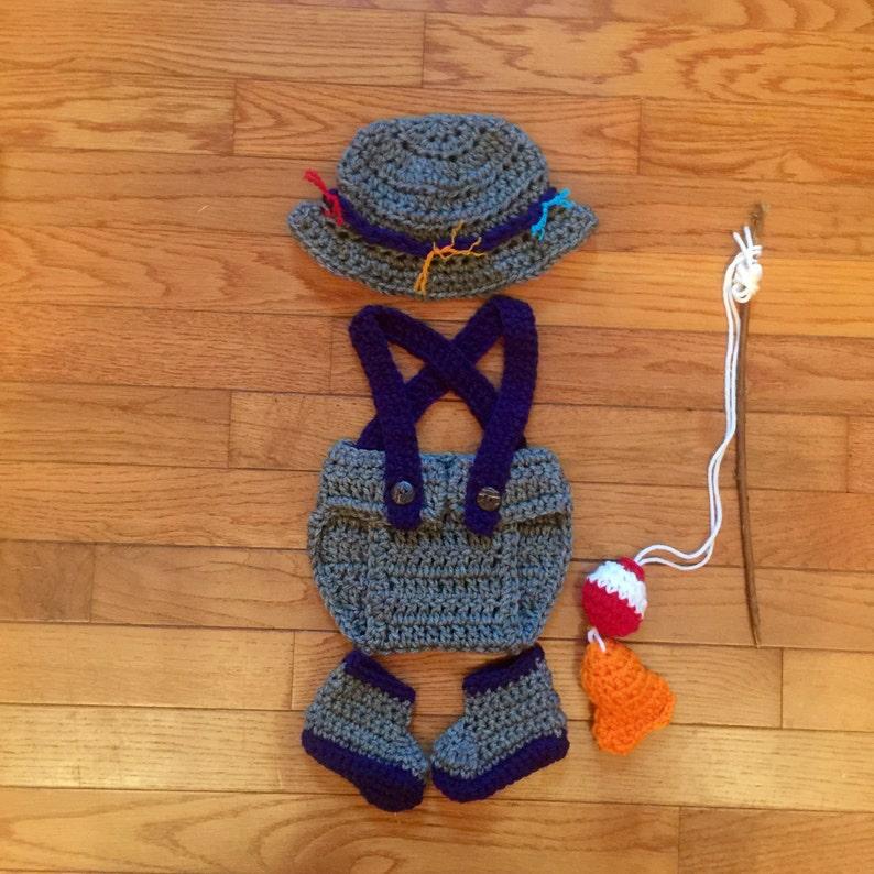 171da63f03ea0 Baby Boy Fishing Outfit Newborn Fisherman Set Fisherman Photo Prop Crochet  Fish Outfit Baby Fisherman Prop Boy Fishing Hat Gone Fishing Set