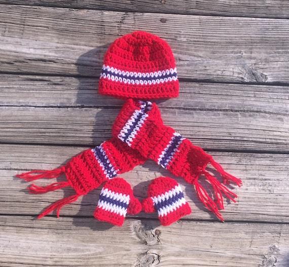 Newborn Hat Scarf Mittens Baby Winter Hat Scarf Mittens Christmas Photo  Prop Winter Photo Prop Christmas Hat Baby Mittens Baby Crochet Hat 12614e1faac