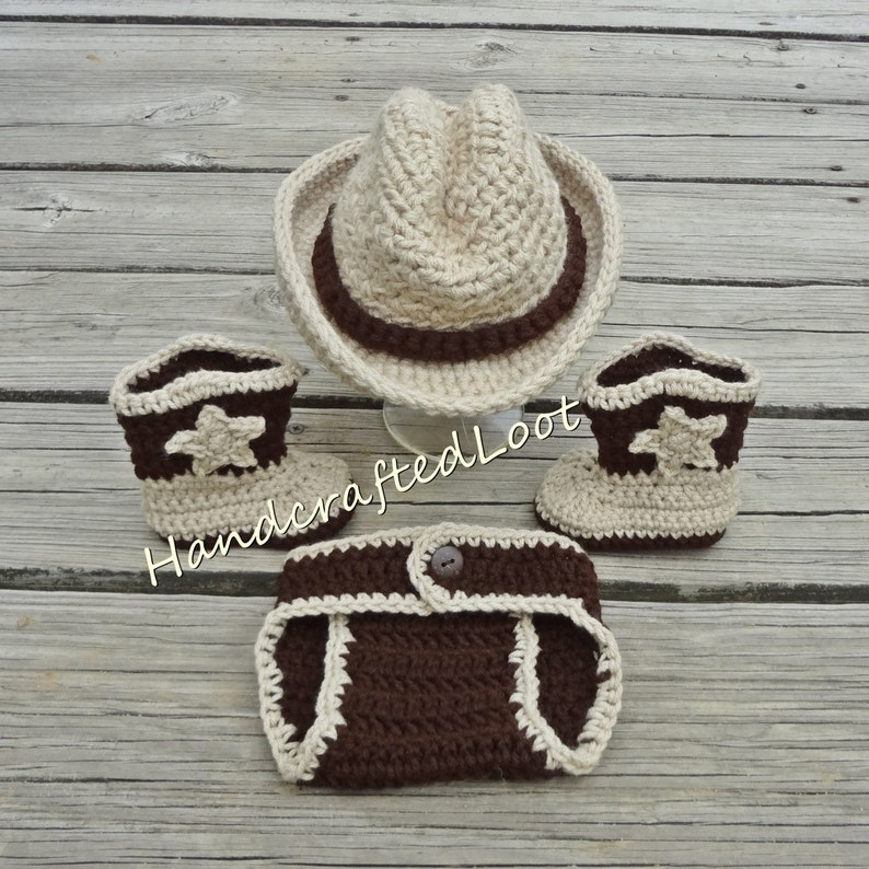 Baby Cowboy Outfit Newborn Cowboy Outfit Beige Cowboy Hat Etsy