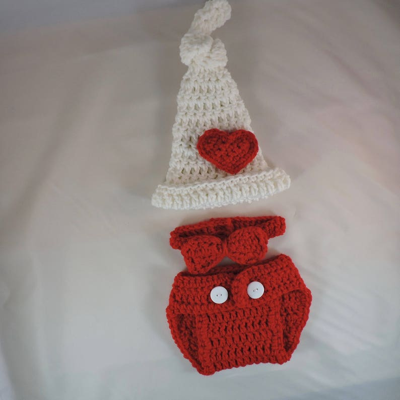 2d82cdd5f Baby Valentines Day Outfit, Crochet Valentine Outfit, Valentines  Costume,Top Knot Heart Hat, Crochet Heart Outfit, Baby Boy Red Outfit Set
