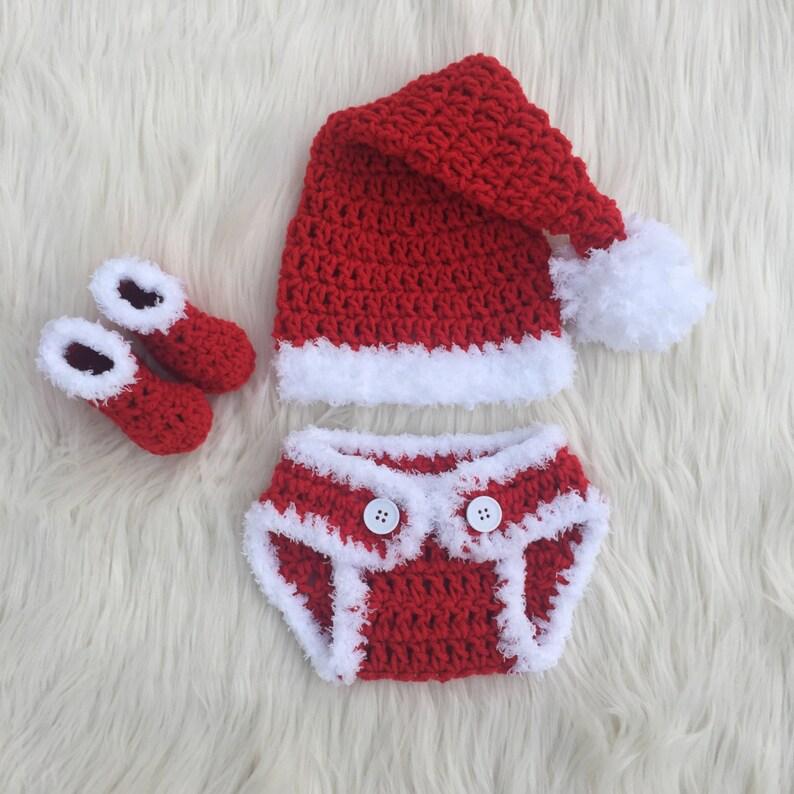 d8cc2e1d34839 Noël bébé tenue Crochet bébé tenue premier Noël Santa