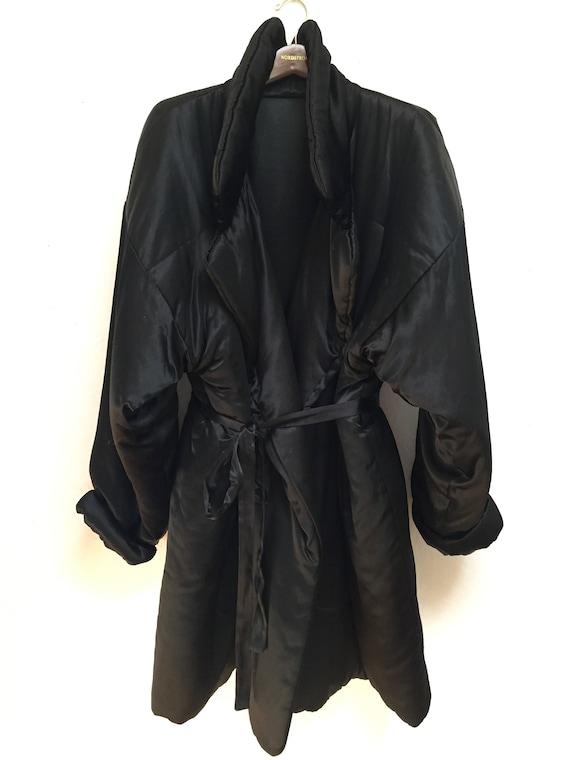 Norma Kamali Black Sleeping Bag Coat