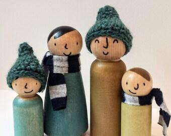 Alias - The Complete Fifth Season Peg Doll Family with Accessori