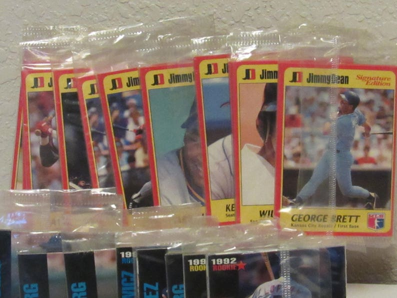 Jimmy Dean 2 Pack Promo Baseball Cards From 1991 1992 In Cellophane 42 Single Count Free Shipping To The Lower 48