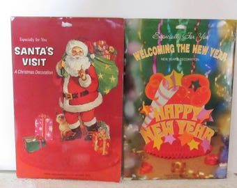 Christmas & New Years Centerpieces, American Greetings, 1980, Unopened