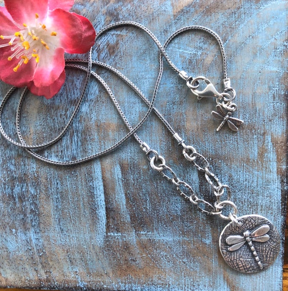 Sterling Didae  dragonfly necklace