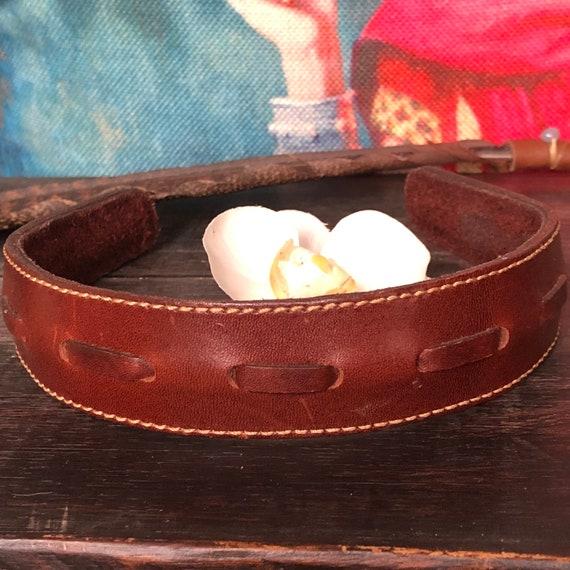 Genuine leather headband