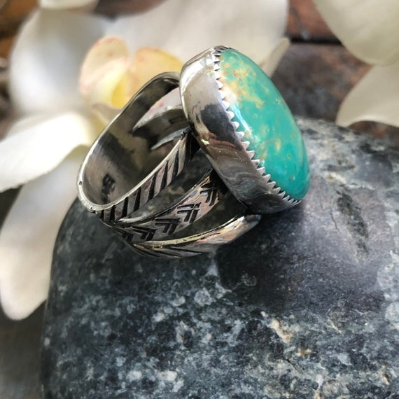 Navajo Royston Turquoise and sterling ring size 7.5