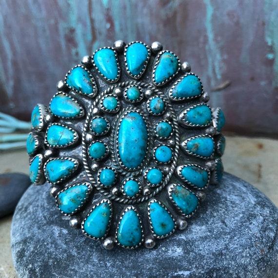 Vintage Navajo cluster cuff