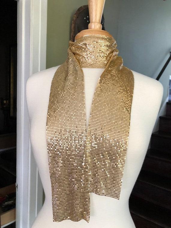 Vintage Liquid gold metal scarf/sash