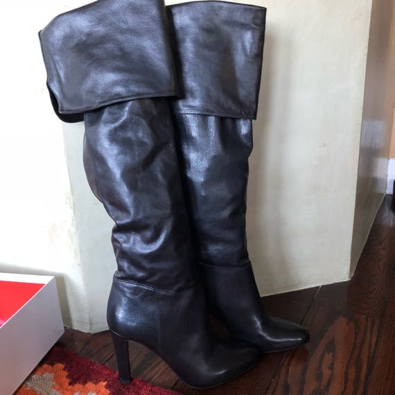 Coach tall over the knee boots soft napa leather size 8