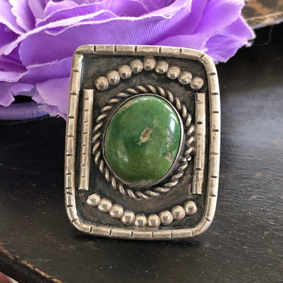 Vintage Royston turquoise and sterling navajo ring size 9