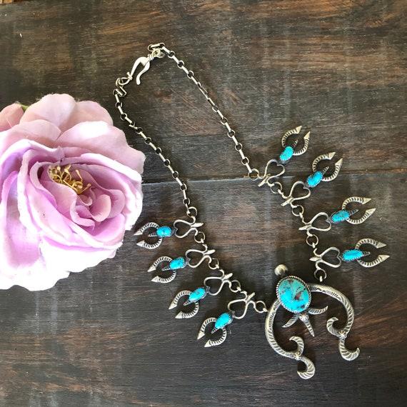 Tufa cast squash blossom necklace
