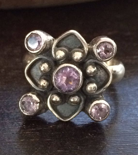 Enchanting amethyst and sterling ring size 6
