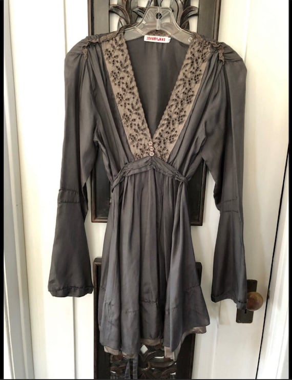 Vintage Johnny was size silk tunic  S
