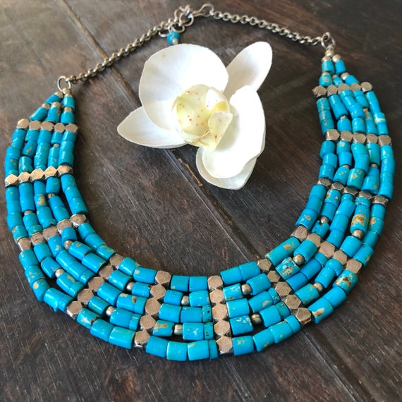 Vintage tribal beaded choker