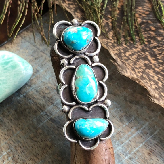 Sterling turquoise Navajo ring size 6