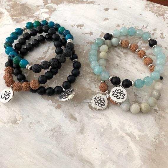 Healing yoga meditation bracelets