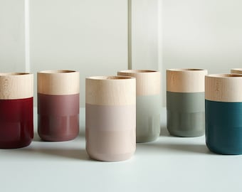"""Single Painted Wooden Vase Home Decor """"MOODY COLLECTION"""""""