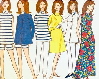Vintage Vogue 7194 JACKET BLOUSE Top Dress Shorts & PANTS 1960s Sewing Pattern Vogue Wardrobe Bust 32 Size 12 UNCuT Womens Sewing Patterns