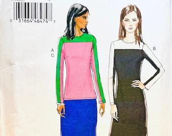 Vogue 9166 Tunic, Dress & Skirt Pattern Very Easy Vogue Patterns Size 14 16 18 20 22 UNCuT Womens Sewing Patterns Plus Sizes