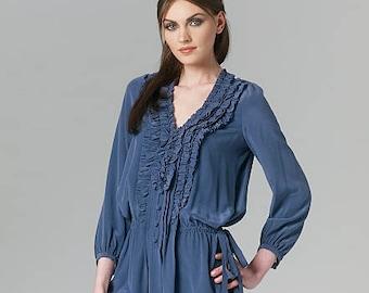 6e19cacad194 VOGUE 1255 MINI DRESS Pattern Ruffled Tunic Top Rebecca Taylor Vogue  American Designer UNCuT Womens Sewing Patterns Size 6 8 10 12