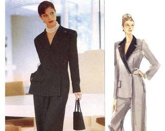 Vogue 1887 JOHN GALLIANO for GIVENCHY Mock Jumpsuit Pantsuit Vogue Paris Original Womens Sewing Patterns Size 14 16 18 Bust 36 38 40 UNCuT