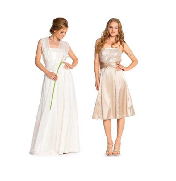 EVENING GOWN PATTERN Simple Wedding Dress Pattern Maxi Dresses ...