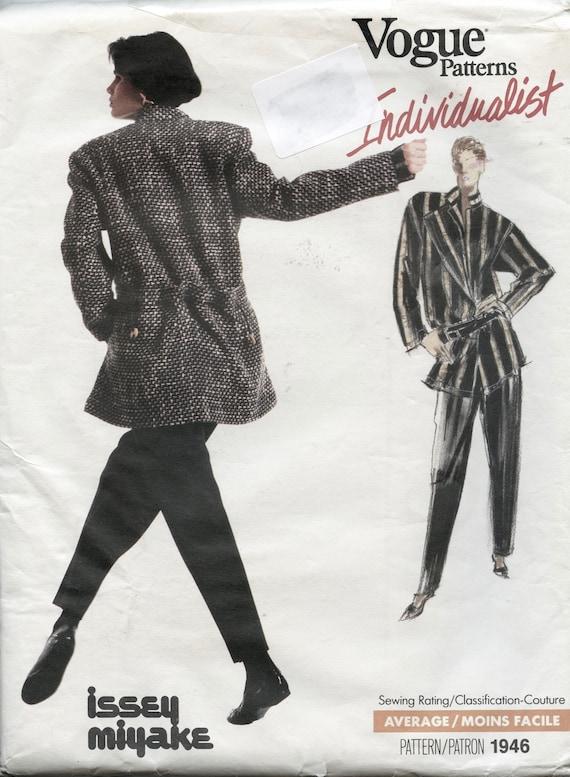 Vogue 1946 Issey Miyake Womens Jacket Tapered Pants /& Top Shirt Vogue Individualist Size 12 Bust 34 UNCuT Womens Sewing Pattern