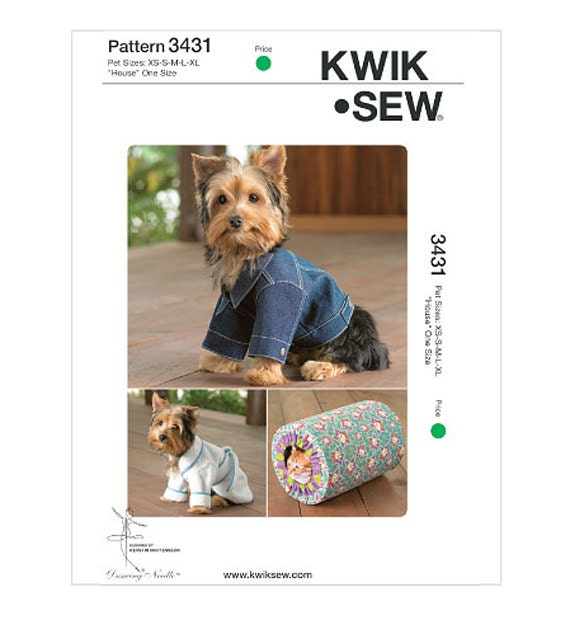 DOG COAT JACKET Pattern Dog Robe Pattern Cat Bed House Size Xsmall ...