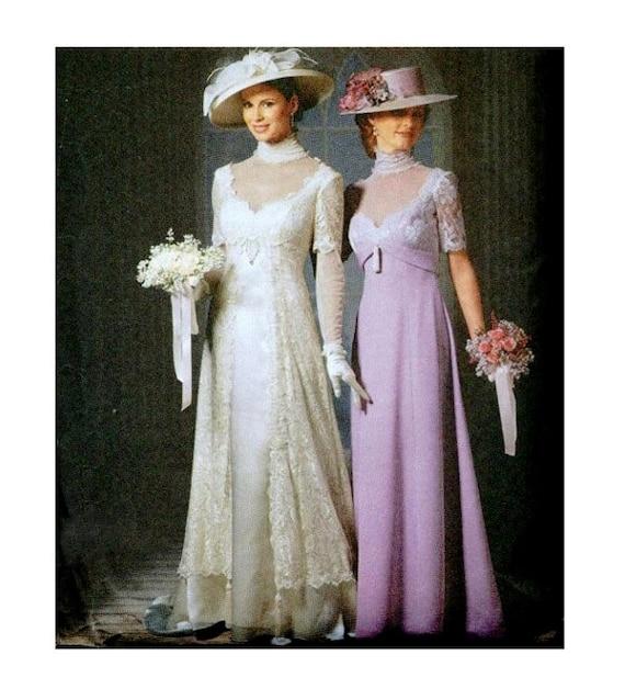GIBSON GIRL WEDDING Dress Pattern Empire Waist Bridesmaid Gown ...