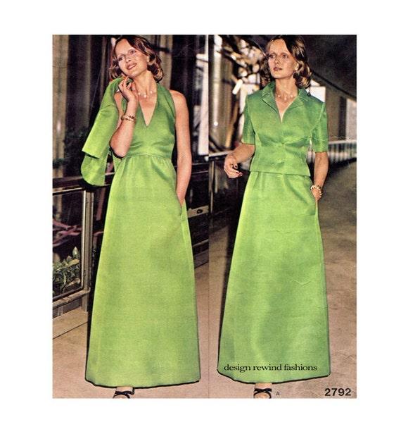 1970s VOGUE 2792 HALTER DRESS Pattern Evening Gown Dress &   Etsy